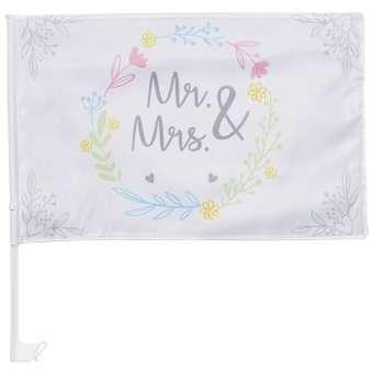 3864202 Wedding-Flag Mr.-Mrs.  30x45cm