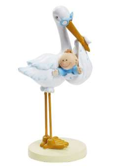 3870013 Storch mit BabyBoy  11cm