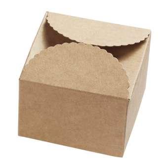 3964102 Papier-Box, natur, 70x70x50, 2St.