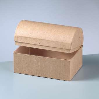510535 Schatztruhe Karton braun 15x10x10,5cm