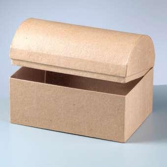 510536 Schatztruhe Karton braun 18x12x12,5cm