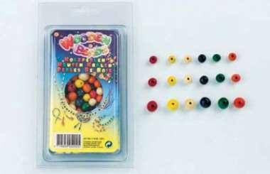 511768 Holzperlenmix mit runden Perlen