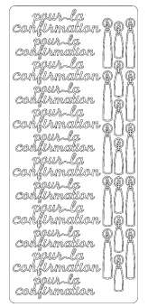 519855 Sticker pour la cofirmation silber