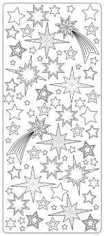519911 Sticker Sterne transparent silber
