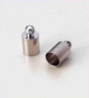 522540 Endkappe für 5mm  Kordel 4St. silber