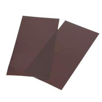 525819 Color-Dekor 180°C,10x20cm,2 St. braun