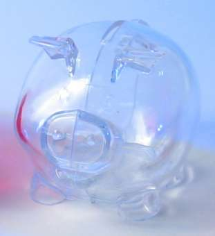 599328 Sparschwein 110x82x80mm transparent