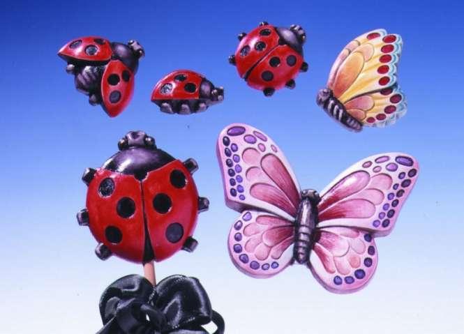 2000205 Giessform Marienkäfer/ Schmetterling