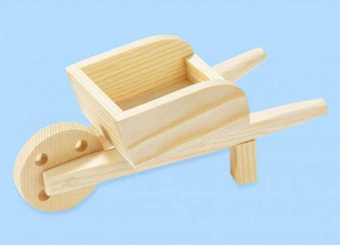 3270140 Holz-Schubkarre     12x5x5.5cm *