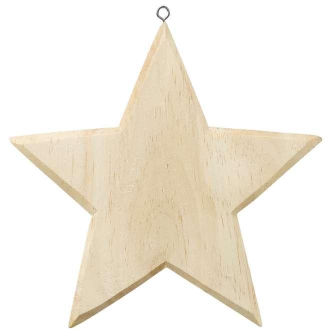 3270216 Holz-Stern 19cm