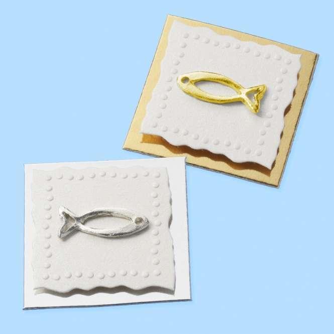 3451027 Sticker Fisch silber   Btl à 3St