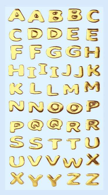 3451108 Sticker Buchstaben gold