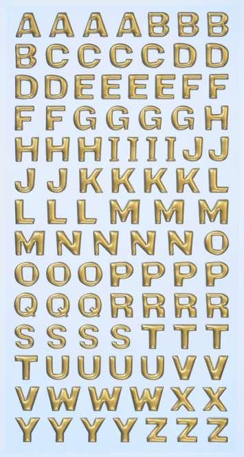 3451115 Sticker Grossbuchstaben gold