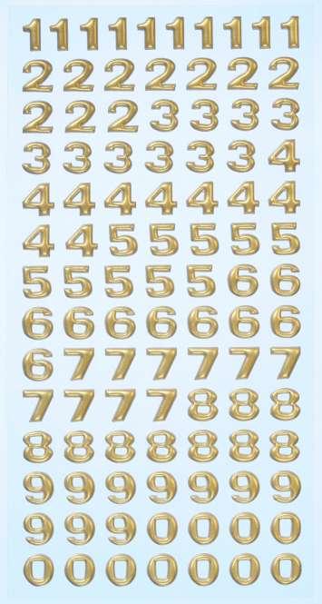 3451118 Sticker Zahlen gold