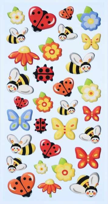 3451123 Sticker Marienkäfer/Biene/Schmet