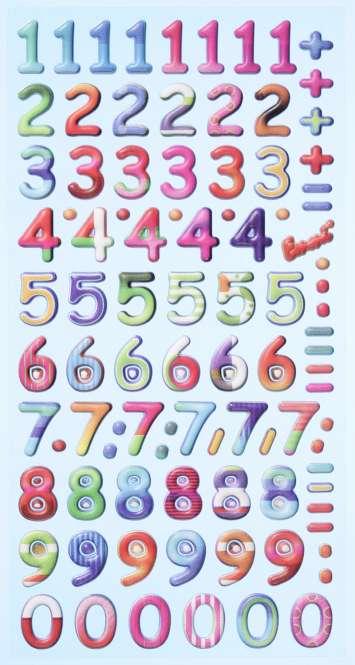 3451136 Sticker Design Zahlen