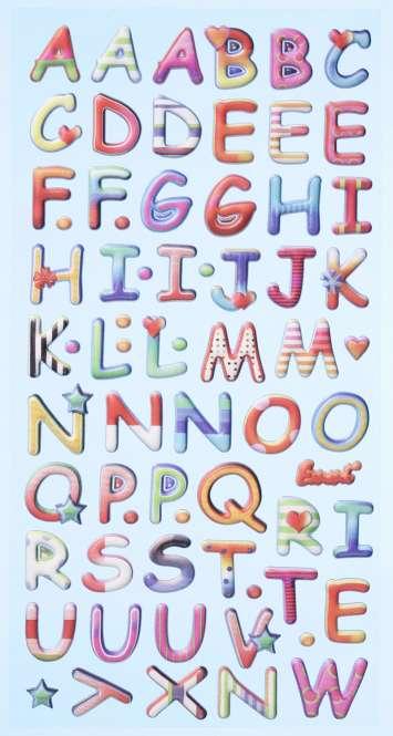 3451137 Sticker Design Buchstaben