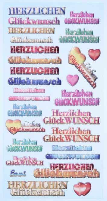 3451142 Sticker Herzlichen Glückwunsch K