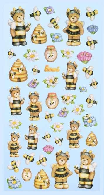 3451155 Sticker Lustige Bienen