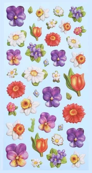 3451158 Sticker Lustige Blüten