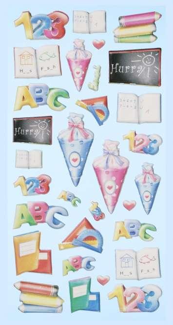3451166 Sticker Schule II              *