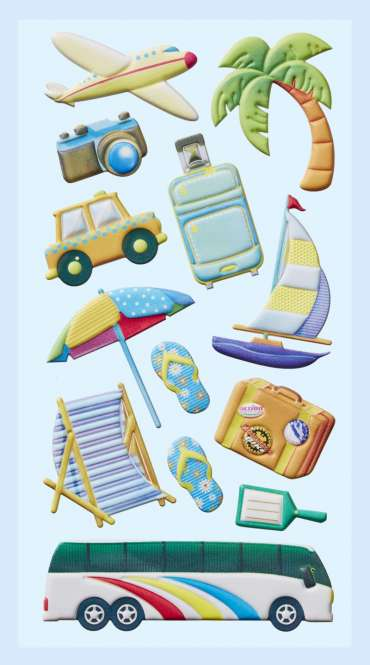 3451268 Softy-Sticker Urlaubs-Reise