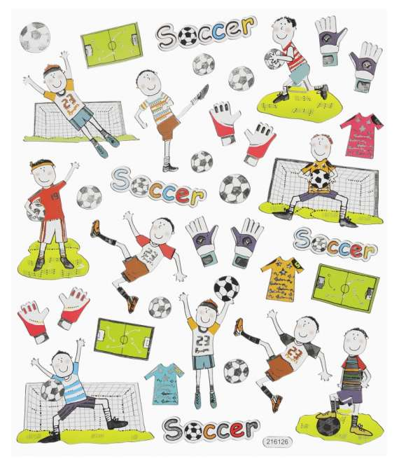 3452419 Design-Sticker Fussball II