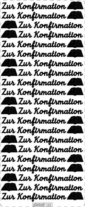 3460031 Sticker Zur Konfirmation goldA+