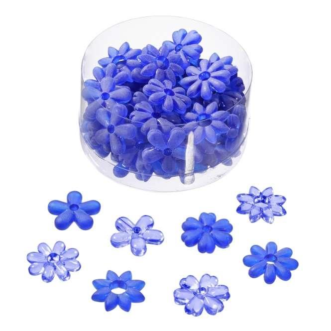 3860287 Acrylblüten 20mm sort. blau