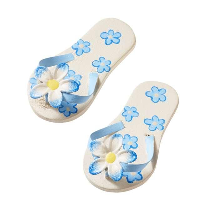 3861401 Flip-Flops 4.5cm blau m.Blume