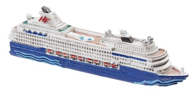 3870705 Kreuzfahrtschiff II,  12cm