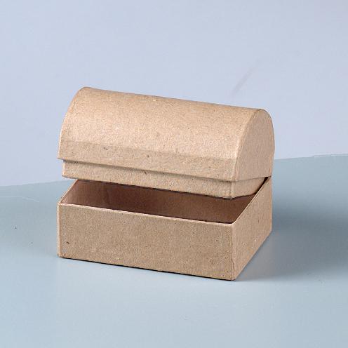 510533 Schatztruhe Karton braun 8x5,5x5,5