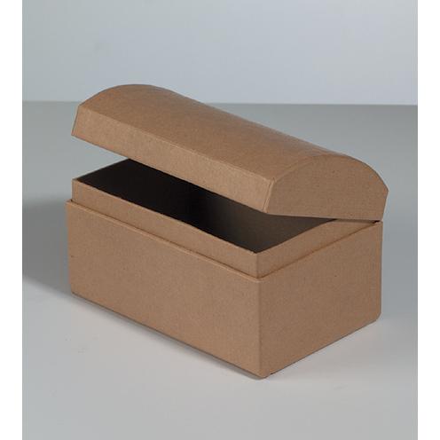 510534 Schatztruhe Karton braun 12x8x7,5cm