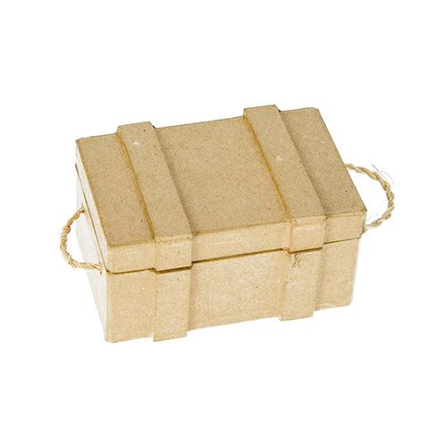 510541 Schatztruhe Karton braun 10x7x5,3cm
