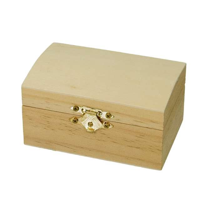 510542 Holztruhe mit Verschluss 9,5x6,5x5,3cm
