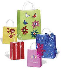510580 Papiertaschen 12x15cm farbig 20St