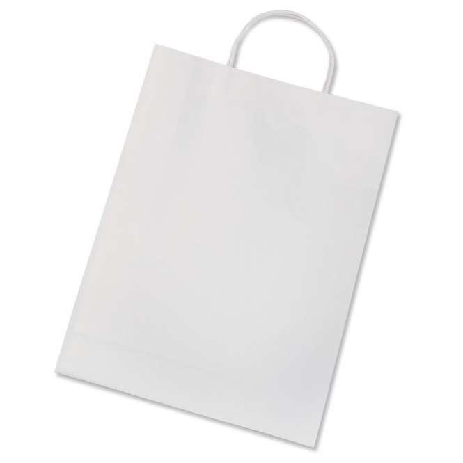 510583 Papiertaschen 18x21cm weiss 20St