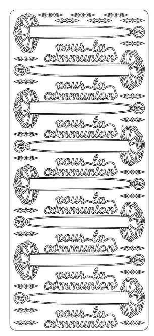 519851 Sticker pour la communion silber