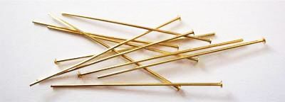 522514 Kettelstift m.Kopf 45mm 100St.gold
