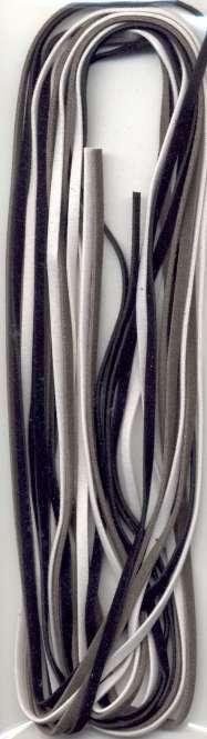 522802 Velourband 3x3mmx2m ass. schwarz