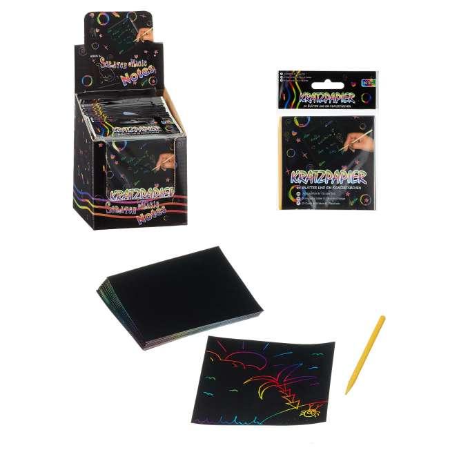 530023 Kratzpapier Set bunt 25tlg 8.5x8.5cm