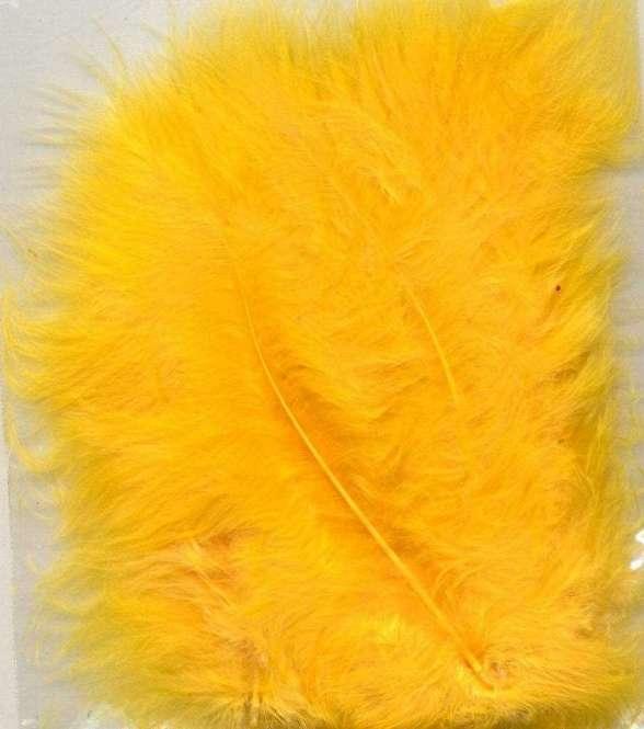 565952 Marabufedern 15St. gelb
