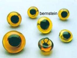 573208 Glasaugen  8mm bernstein