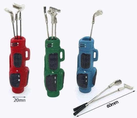 587967 Golftasche grün 3 Schläger