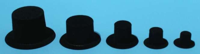 592130 Hüte Zylinder 30mm schwarz