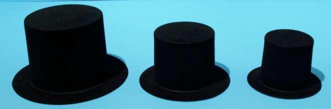 592168 Hüte Zylinder 120mm schwarz