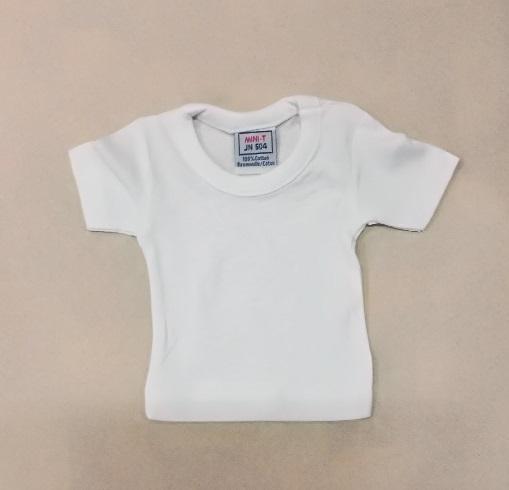 599355 Mini T-Shirt weiss 18x18cm